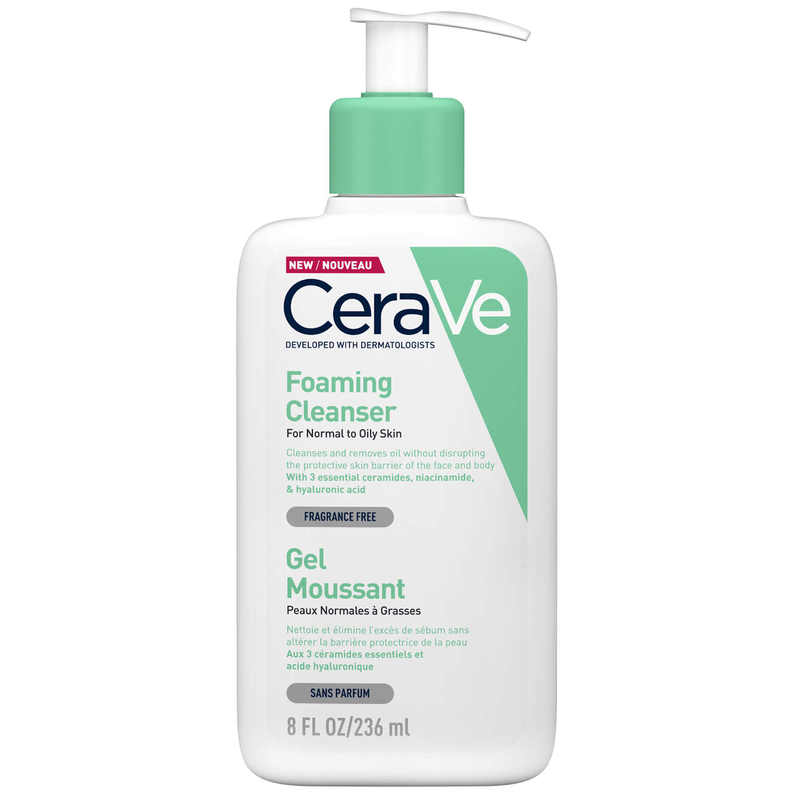 CERAVE Foaming Cleanser 236 ML – BeeQueen